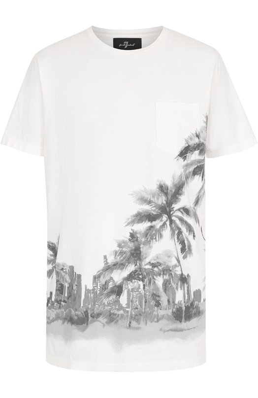 Хлопковая футболка с принтом 7 For All Mankind S5M2410WI