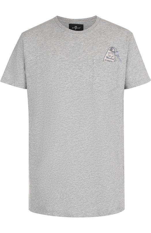 Хлопковая футболка с круглым вырезом 7 For All Mankind S5M2560GR