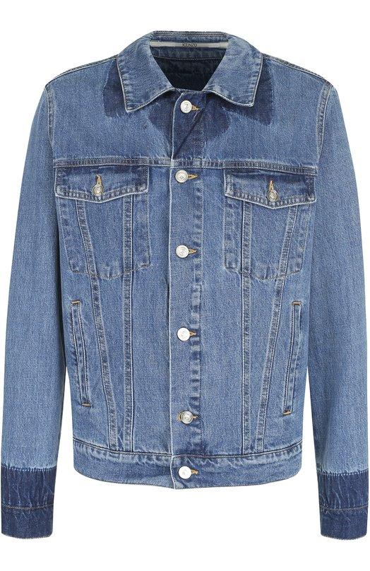 Джинсовая куртка с контрастной отделкой Kenzo F755BL5082FB