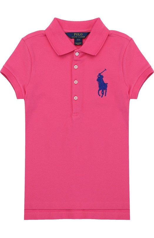 Поло из хлопка с логотипом бренда Polo Ralph Lauren G10/XZ1L2/XY1L2