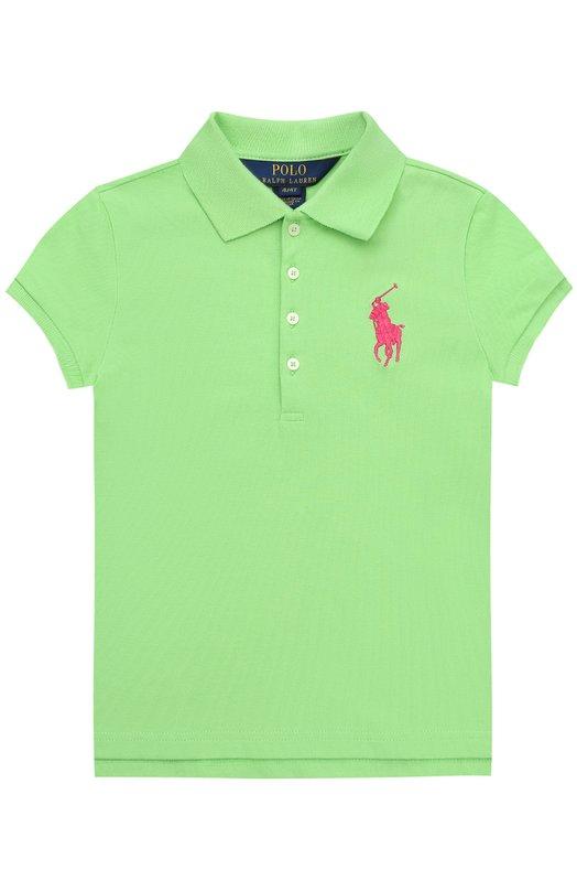 Поло из хлопка с логотипом бренда Polo Ralph Lauren S10/XZ1L2/XY1L2