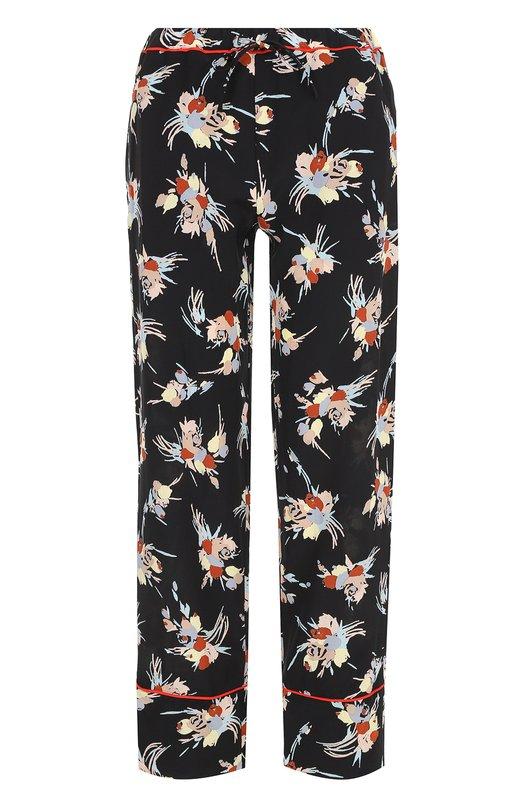 Шелковые брюки с цветочным принтом Marni PAMAN24I00TSE12