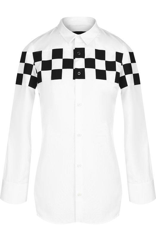 Блуза с укороченным рукавом и контрастной отделкой Dsquared2 S72DL0480/S36275