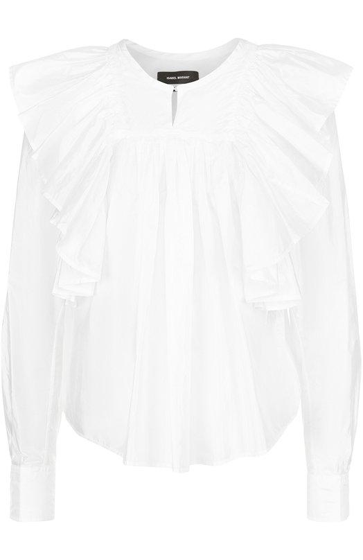 Блуза свободного кроя с оборками Isabel Marant HT1006-17E006I/ARLINGT0N