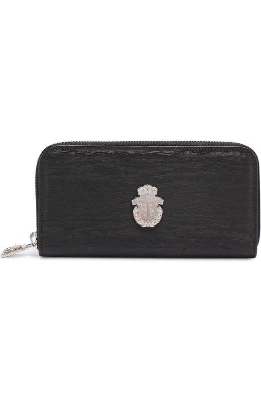 Кожаное портмоне на молнии с отделениями для кредитных карт и монет Billionaire I17A MVG_0026 BLE006N
