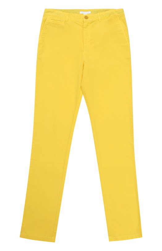 Хлопковые брюки прямого кроя Burberry 4034376