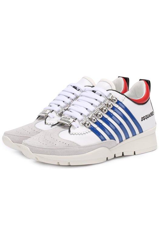 Комбинированные кроссовки с логотипом бренда Dsquared2 S17K201/984