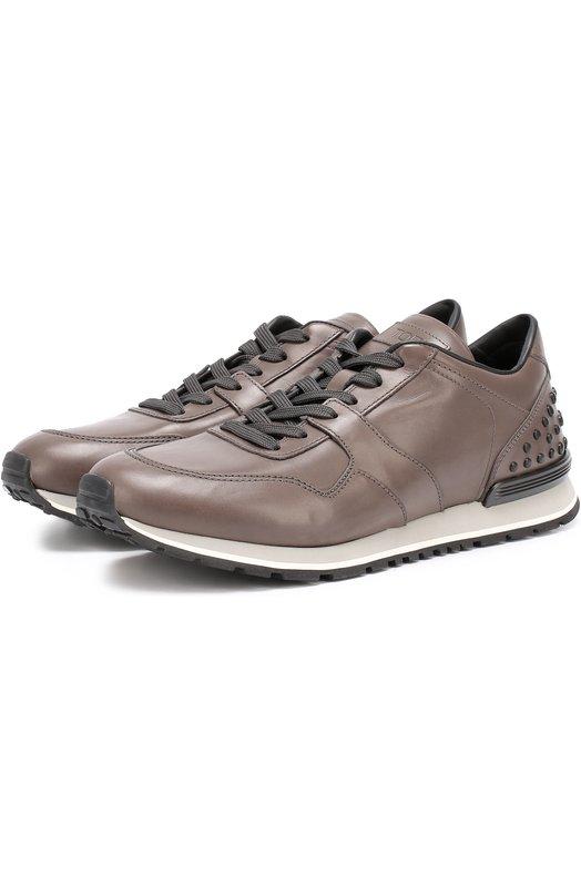 Купить Кожаные кроссовки на шнуровке Tod's Италия 5150569 XXM0XH0R011RUS