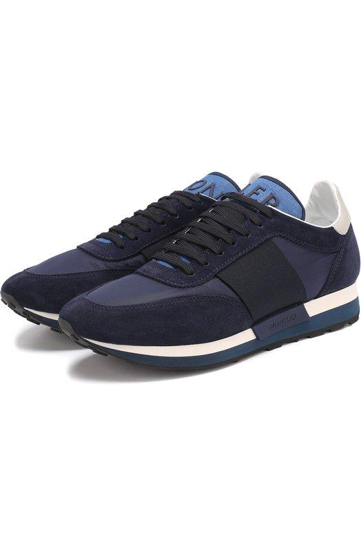 Комбинированные кроссовки на шнуровке Moncler C1-09A-10191-00-01932