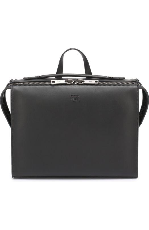 Кожаный портфель на молнии Fendi 7VA400/07B