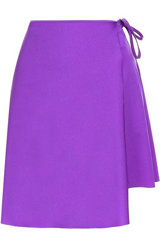 Мини-юбка асимметричного кроя с запахом Balenciaga 470936/TEK90