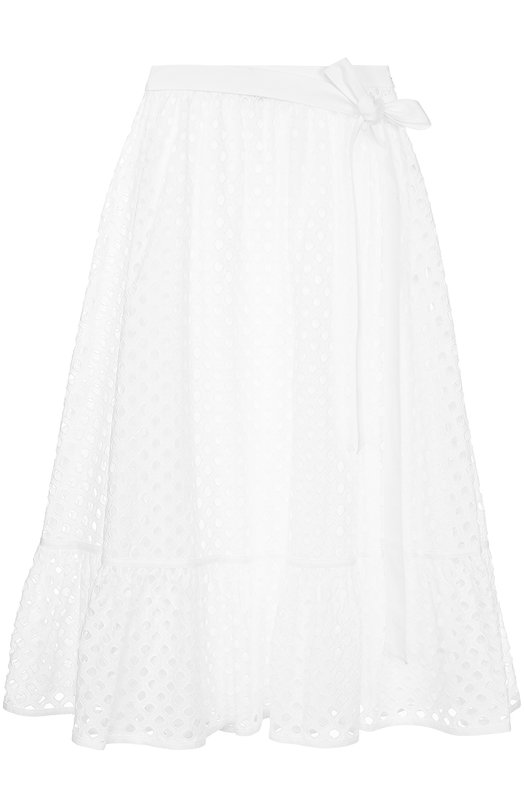 Кружевная юбка с оборкой и поясом Tory Burch 37463