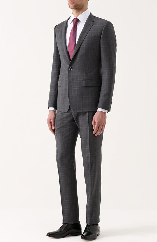 Шерстяной костюм в клетку Dolce & Gabbana 0101/G16ZMT/FQ2HV