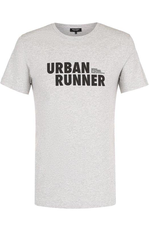 Купить Хлопковая футболка с контрастной надписью Ron Dorff Португалия 5157176 11.32