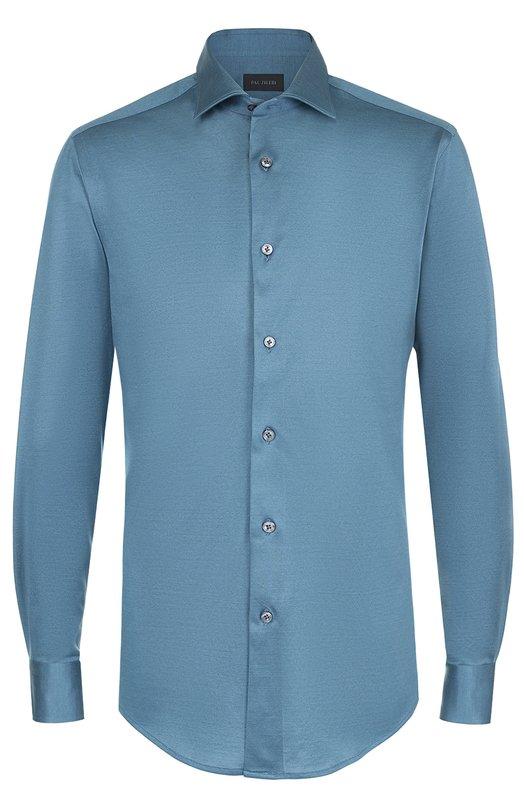 Хлопковая рубашка с воротником акула Pal Zileri 90794/370/K06S