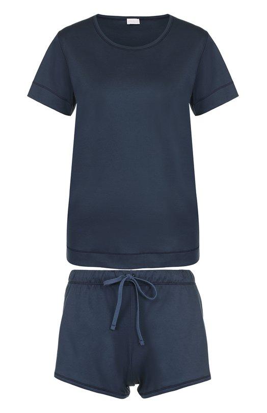 Хлопковая пижама с мини-шортами и футболкой Zimmerli 254/3931