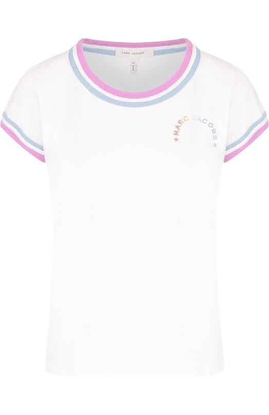 Хлопковая футболка с контрастной отделкой Marc Jacobs M4006683