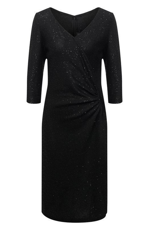 Купить Приталенное платье с пайетками и драпировкой St. John США 5156401 K18L010