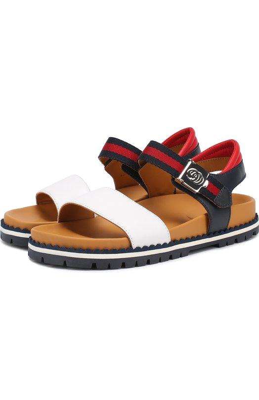 Комбинированные сандалии с ремешком Gucci 455414/CPW00