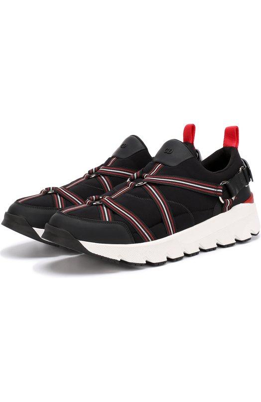 Комбинированные кроссовки с ремешками Dior 3SN214X0M