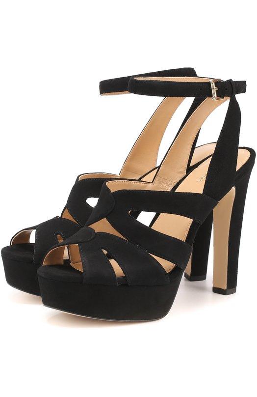 Замшевые босоножки Winona на устойчивом каблуке MICHAEL Michael Kors 40S7WNHA1S
