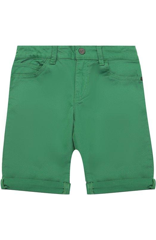 Хлопковые шорты с отворотами Giorgio Armani 3Y4S01/4NDGZ/4A-10A