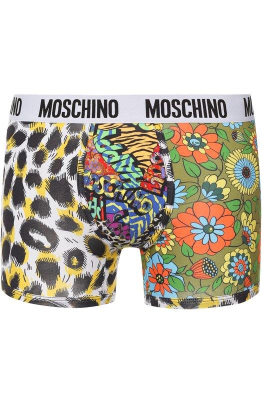 Хлопковые боксеры с принтом Moschino A4735/8107