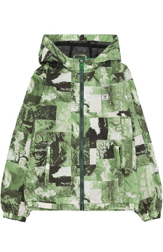 Куртка с принтом и капюшоном Giorgio Armani 3Y4B02/4NCDZ/4A-10A