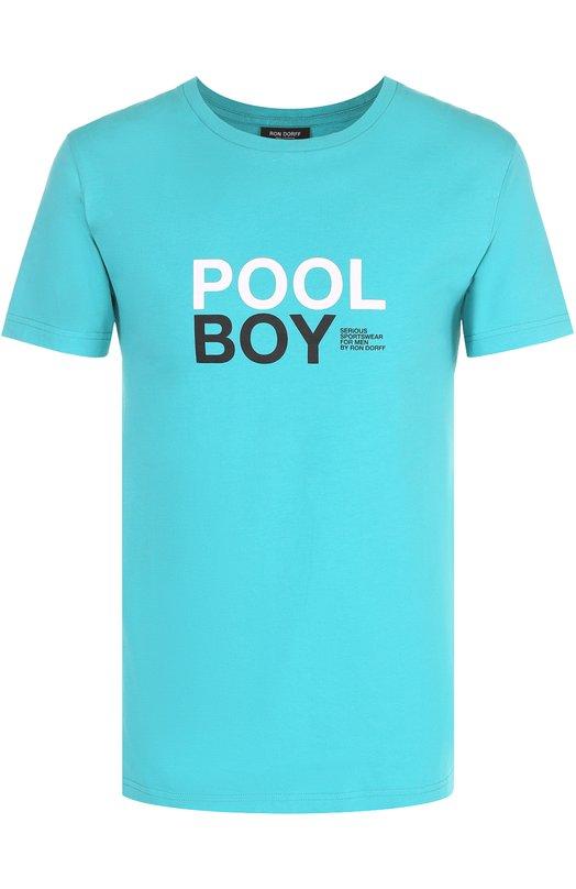 Купить Хлопковая футболка с контрастной надписью Ron Dorff Португалия 5157179 11.39