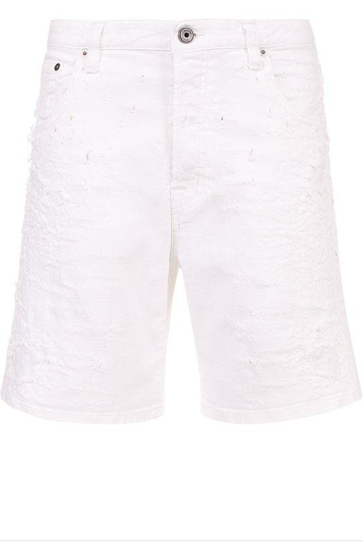 Джинсовые шорты с декоративными потертостями Just Cavalli S03MU0049/N31183