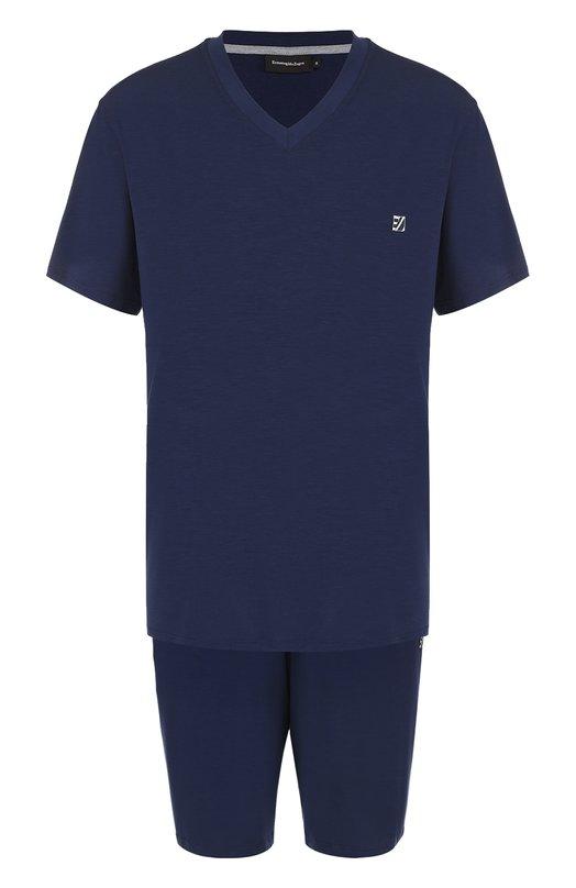 Пижама из вискозы с шортами Ermenegildo Zegna N6H100140