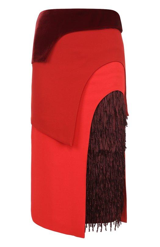 Многоярусная юбка-карандаш с бахромой Tom Ford GC5239/SDE133