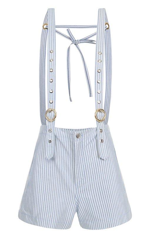Мини-шорты в полоску с подтяжками Kenzo F752SH0355AH