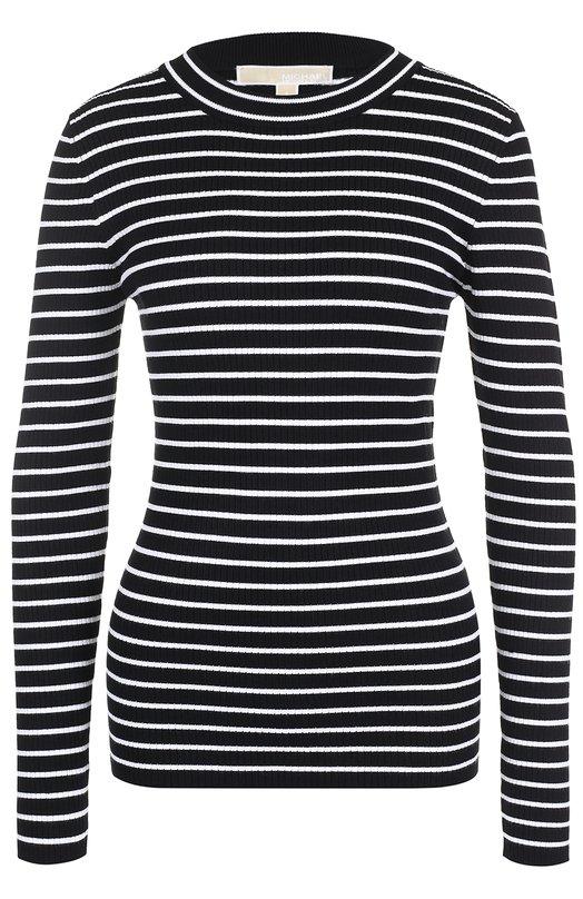 Облегающий пуловер в контрастную полоску MICHAEL Michael Kors MS76N808S8