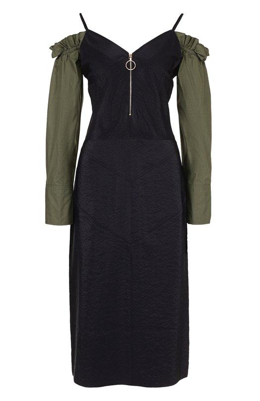 Платье с вырезом на молнии с открытыми плечами Nina Ricci 17PCR0013PA0340