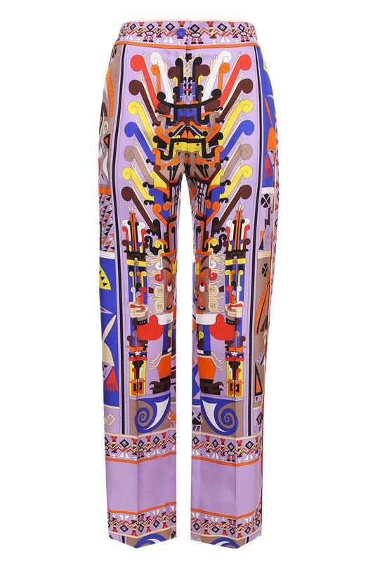 Шелковые брюки прямого кроя с принтом Emilio Pucci Emilio Pucci