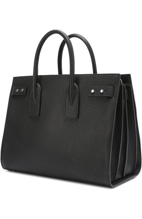Сумка Sac de Jour Souple medium Saint Laurent черная | Фото №1