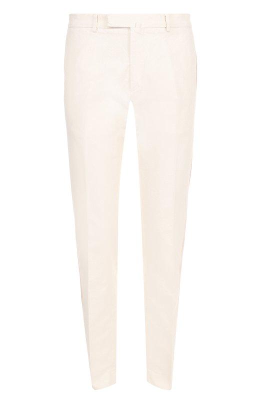 Хлопковые брюки прямого кроя с контрастной отделкой Valentino