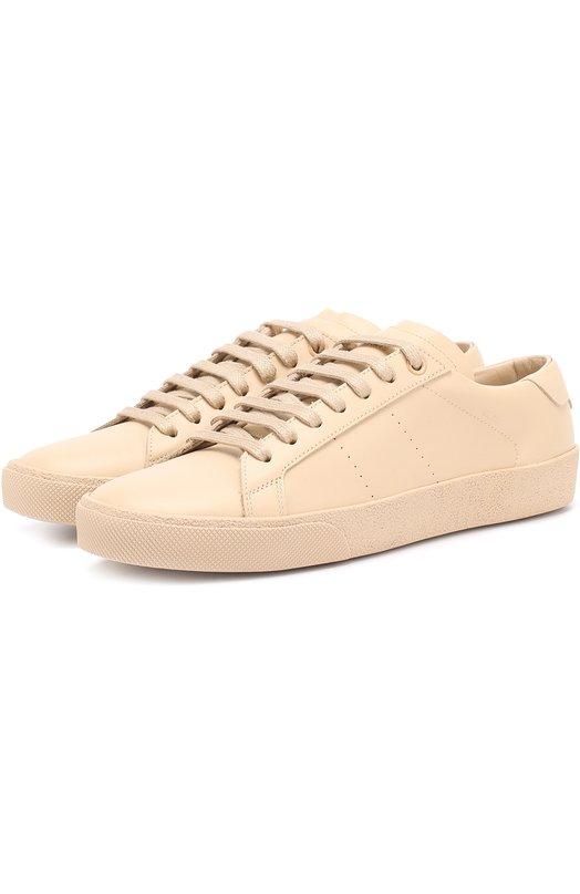 Кожаные кеды Court Classic на шнуровке Saint Laurent 472493/D2600
