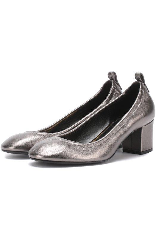 Туфли из металлизированной кожи на устойчивом каблуке Lanvin FW-PUPP00-NAMI-E17