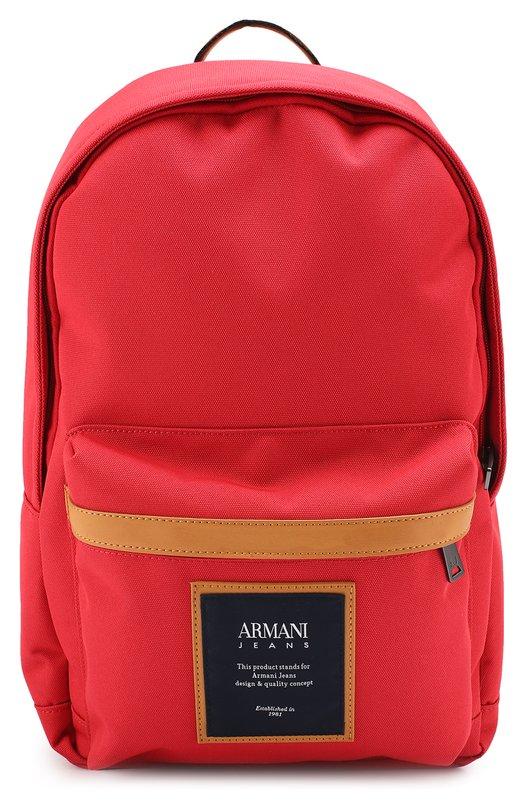Текстильный рюкзак с внешним карманом на молнии Armani Jeans 932079/7P914