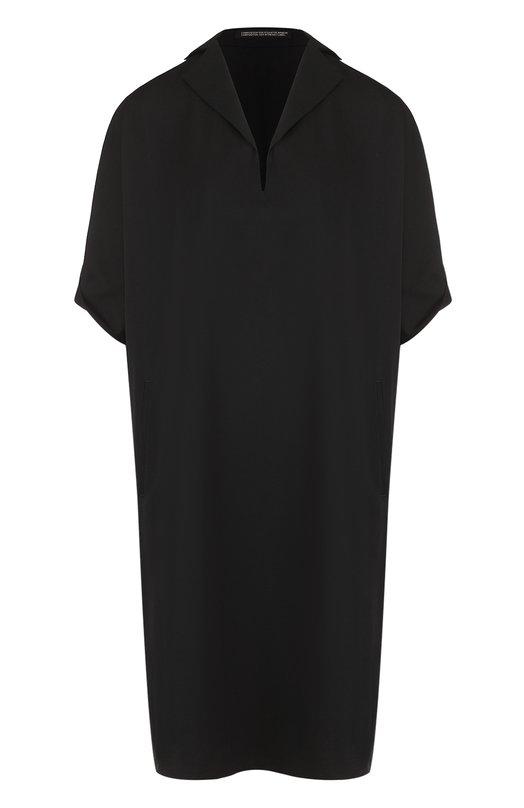 Платье-свободного кроя с отложным воротником Yohji Yamamoto ND-D01-100