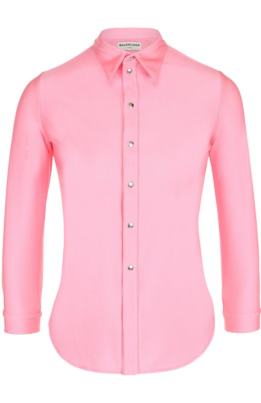Приталенная блуза с укороченным рукавом Balenciaga 470346/TEK90