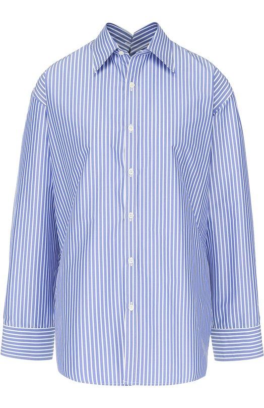 Блуза свободного кроя в полоску Balenciaga 470555/TVB05