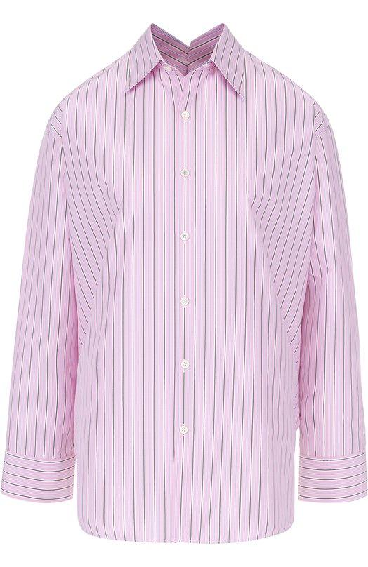 Блуза свободного кроя в полоску Balenciaga 470555/TVB07