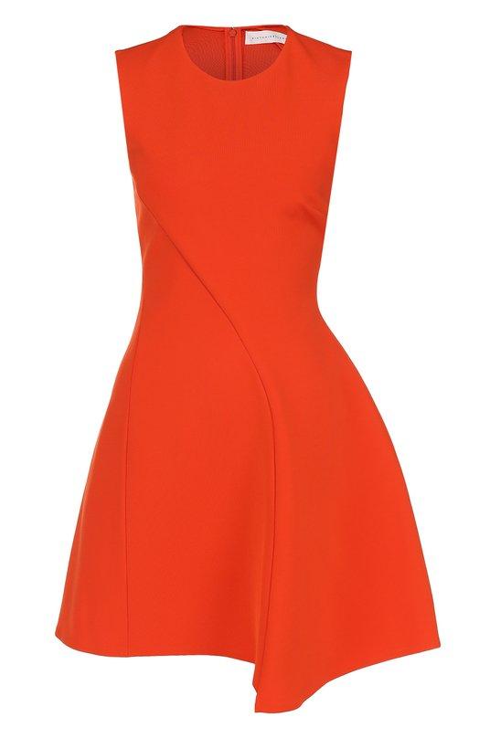 Приталенное мини-платье без рукавов Victoria Beckham DR MIN 6084 MSS17 DENSE RIB
