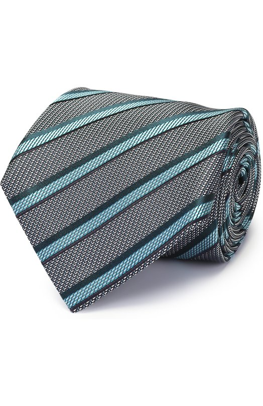 Купить Шелковый галстук в полоску Brioni Италия 5151356 062H/P6471