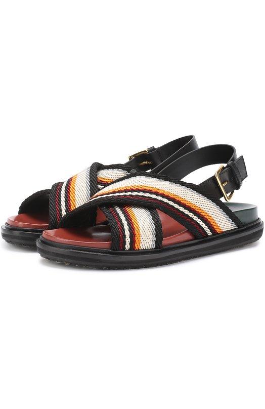 Текстильные сандалии Fussbett Marni FBMSW23G01TA087
