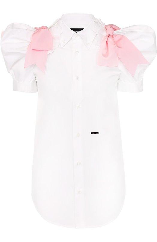 Блуза с рукавом-фонарик и контрастными бантами Dsquared2 S73DL0241/S36275