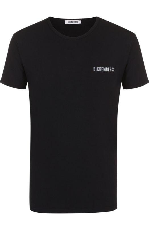 Купить Комплект из двух хлопковых футболок с круглым вырезом Dirk Bikkembergs, B41308T48, Тунис, Черный, Хлопок: 94%; Эластан: 6%;